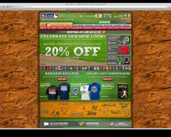 MLB Shop visual design