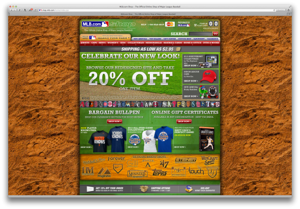 MLB Shop visual design