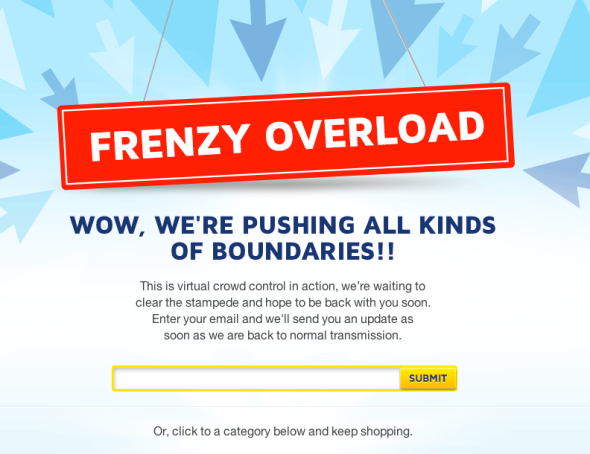 Click Frenzy Overload - give us your email, again, we might contact you. Maybe.