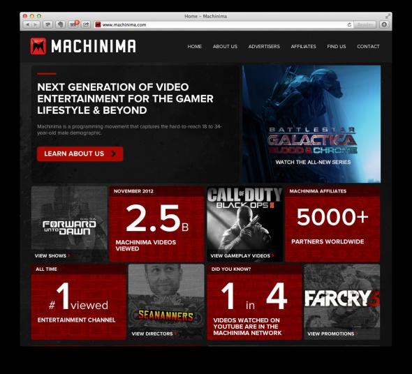 Machinima - Entertainment for the gamer lifestyle