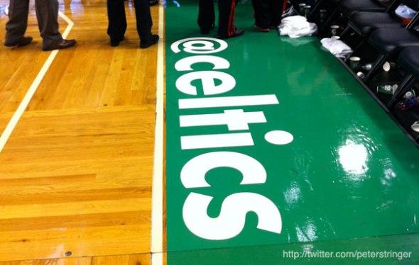 @Celtics on the court